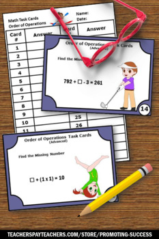 Order of Operations Activities, Summer Olympics Sports