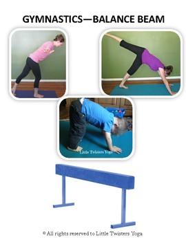 Summer Olympics/Summer Sports Kids Yoga Sequence. Real Photos & Teaching Script