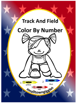 Color by Number Math, Color by Number,Track and Field, Special Education Math