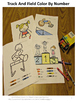 Color by Number Math,Track and Field, Fine Motor Skills, Special Education Math