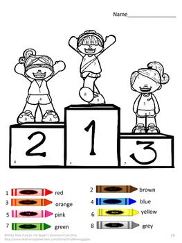 math sports coloring pages pre k kindergarten color by number worksheets. Black Bedroom Furniture Sets. Home Design Ideas