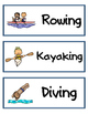 Summer Olympics: Vocabulary Cards (Word Wall)
