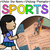 Sports - Write the Room Writing Prompts {Print on Cardstock or Post It Notes}