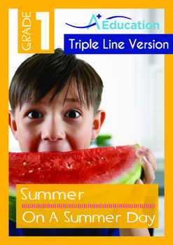 Summer - On A Summer Day - Grade 1 (with 'Triple-Track Writing Lines')