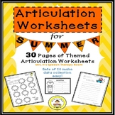 Summer Speech Therapy Articulation Pack for Speech Therapy
