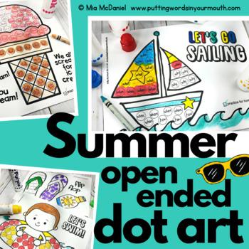 Summer Open Ended Dot Art