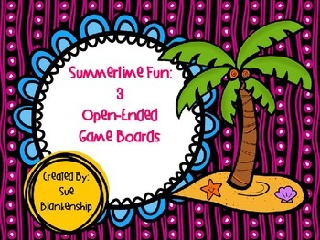Summer Open-Ended Gameboards Freebie