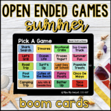 Summer Open Ended Games for ANY skill   Boom Cards™