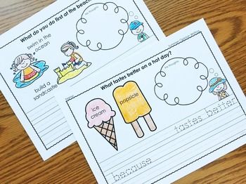 Summer Opinion Writing, Summer Writing, Opinion Writing, Summer Printables