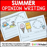 Summer Opinion Writing, Summer Writing, Opinion Writing, S
