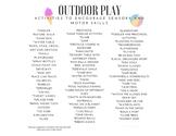 Summer Outdoor Activities list