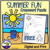Summer Outdoor Fun Crossword Puzzle FREE