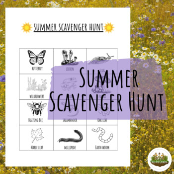 Summer Outdoors Scavenger Hunt
