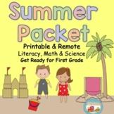 Kindergarten Summer Homework Pack Print & Go~Get Ready For First Grade