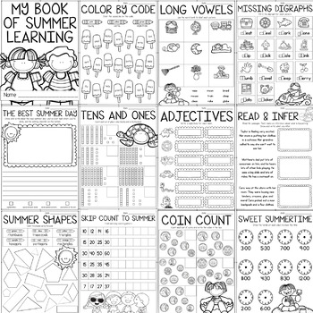 Summer Packet for 1st Graders {Worksheets, Checklists ...