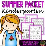 Kindergarten Summer Packet (Summer Review, Homework and Summer School)