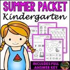 Kindergarten Summer Packet (Kindergarten Summer Review Homework)