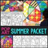 Pop Art Style Summer Packet BUNDLE | Great Summer Activities!