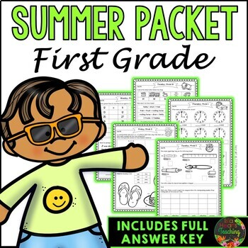 First Grade Summer Packet (First Grade Summer Review Homework)