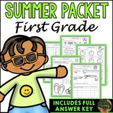 First Grade Summer Packet (First Grade Summer Review Homework)
