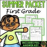 First Grade Summer Packet (Summer Review, Homework and Sum