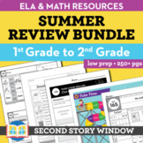 Summer Packet • 1st Grade Spiral Review Activities (Distan