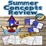 Summer School Activities:  First Grade Review Skills