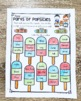 First Grade Math Worksheets and Literacy Worksheets - Summ