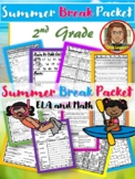 Summer Packet 2nd Grade | ELA and Math | Distance Learning
