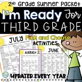 2nd Grade Summer Packet with Summer Calendar ~ Get Ready for 3rd Grade