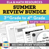 Summer Packet • 3rd Grade Spiral Review Activities (Distan