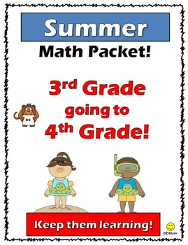 Going Into 4th Grade Summer Packet Worksheets & Teaching