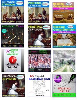 Summer Packet | 525 Assignments | Reading, Writing, Math, Art... (Gr. 3-7)