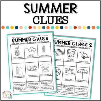 Summer Packet {A No-Prep Summer Activity Packet}