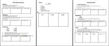 Summer Packet Assignment 6th Grade Math