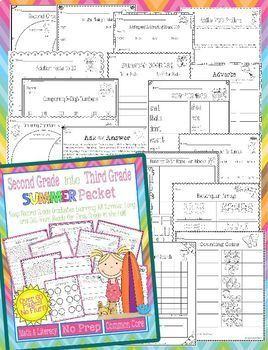 Summer Packet Bundle for Incoming 3rd, 4th, and 5th Graders