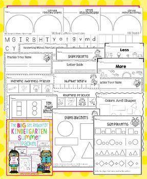 Summer Packet Bundle for Incoming Kindergartners, 1st Graders & 2nd Graders