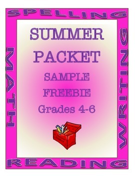 Summer Packet FREEBIE Grades 4-6