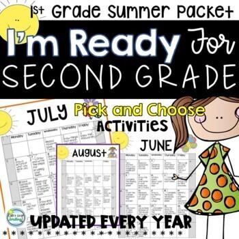 Summer Packet First Grade with Summer Calendar ~ Ready for Second Grade