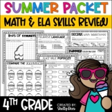 Summer Packet Summer Math and Reading Fourth Grade