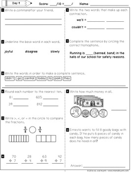 Summer Packet Going Into 4th Grade By Mai Huynh Tpt