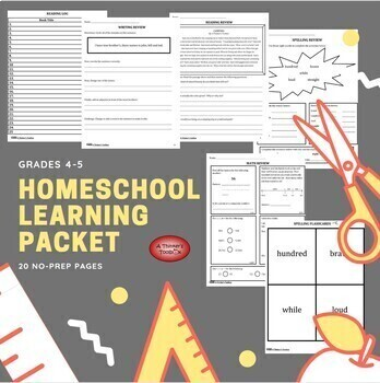 Summer Packet - Incoming 5th Graders