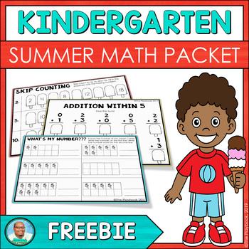 Summer Packet - Kindergarten Math Review Freebie