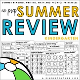 Summer Packet Kindergarten NO PREP Review Distant Learning