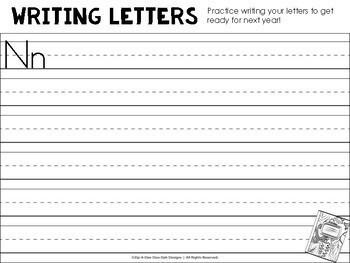 Summer Packet - Kindergarten Reading Review