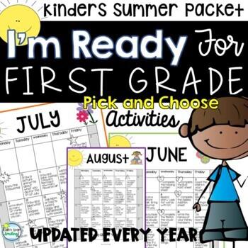 Summer Packet Kindergarten with Summer Calendar ~ Ready for First Grade