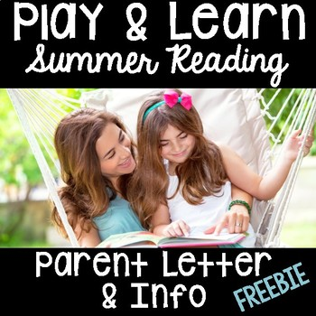 Summer Packet- Parent Letter & Info- FREE for Pre-K, Kindergarten & First  Grade
