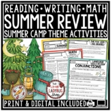 Camping Theme Summer Packet 3rd Grade, 4th Grade Summer Activities Packet