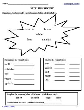 Summer Packet FREEBIE Grades 3-5
