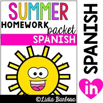 Summer Packet- Spanish